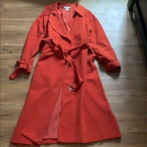 Brunt orange trench. Upgrade any outfit